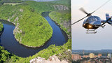 Z vltavské vyhlídky Máj u Teletína spadla žena: Hasiči povolali vrtulník, zasahují i ze člunu