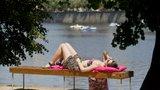Úterý bylo nejteplejším dnem roku. V Dobřichovicích teplota atakovala 35 °C