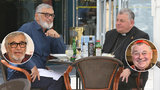 Požehnaný oběd Bartošky a Duky: Prezident hřešil s kardinálem