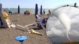 Italskou pláží se přehnalo tornádo: Deset zraněných!