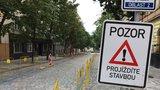 Na Žižkově rozkopou další ulici. Bořivojovu čeká oprava plynovodu, potrvá do konce října