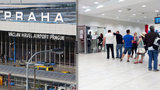 Fronta na cigáro jak na banány: Kuřáci se potupně štosují na letišti v Praze
