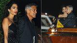 Clooney s Amal v Benátkách, kde se brali: Po 3 letech na místě činu