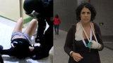 """""""Osahávali mi prsa a lámali prsty."""" Marta v slzách popsala zásah policie u uren"""