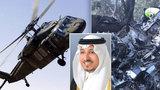 Saúdský princ zemřel při nehodě vrtulníku. Chtěli ho sestřelit?