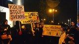 Nesahejte nám na Transgas! Pražané protestovali proti rozhodnutí ministra kultury stavby zbourat