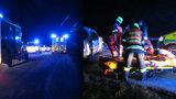 V mercedesu se vybouralo pět lidí: Tři jsou těžce ranění