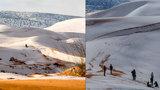 Počasí zešílelo, sníh zasypal Saharu: Potřetí za 40 let