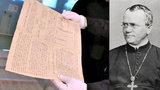 Vítej doma, ztracený poklade! V Brně vystaví stěžejní spis otce genetiky G. J. Mendela