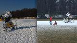 Pozdě, ale přece: Sněžná děla na Vypichu konečně pracují, v sobotu se ski park otevře dětem