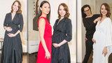 Nerozhodná Lašková na začátku 9. měsíce: Na jeden ples má troje šaty!