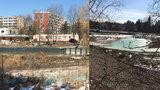 Staveniště na koupališti Lhotka: Práce komplikují mrazy, radnice chce otevřít letos