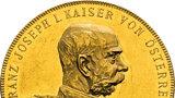 Největší sbírka mincí s Františkem Josefem I. jde do dražby: Umělecké kopie jsou k vidění na Konopišti