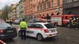 Poprask v centru Prahy: U Jindřišské věže hořela kancelář! Hasiči plameny rychle uhasili