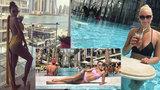 Krásná Monika Bagárová vystavuje své tělo v Dubaji! S přítelem tam ale není
