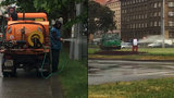 Prší, prší, jen se leje, záhony však zalejeme! Česku chybí voda, Praha 6 jí má nadbytek