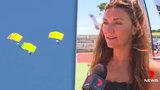 Českou parašutistku na mistrovství v Austrálii odfoukl vítr mimo trasu: Jako zázrakem přistála v ulicích nezraněná