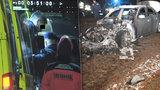Přejel člověka, ujel a zapálil auto: Šílený řidič z Brna byl opilý a měl nelegální zbraň!