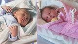 Jiřík a Terezka, první miminka roku na jihu Moravy: Svou slávu sladce prospala