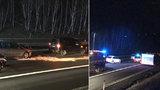 Hromadná nehoda na dálnici D10: Srazilo se 10 aut!