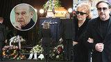 Pohřeb Luďka Munzara ONLINE: Hlaváčová nepřišla ani na druhý, tajný obřad