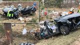 Tragédie u Prahy! Před Kostelcem nad Černými lesy boural vůz, dvě děti nepřežily