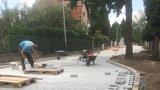 Všelipská ulice se dočkala nové dlažby. Úprava povrchu zachovala statný dub