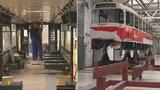 """Místo, kde se léčí pražské tramvaje: V malešické opravně se obnažují """"na kost"""", funguje už 50 let"""
