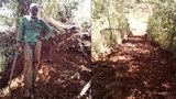 Úřady se vykašlaly na stavbu cesty, hrdina se do toho pustil sám. Kácí stromy a kope hlínu