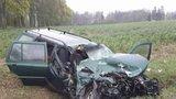 Srážka čtyř aut na Liberecku: Jeden z řidičů zahynul