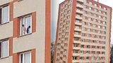 Drama na pražském sídlišti: Nahý kluk pochodoval na parapetu v 9. patře paneláku