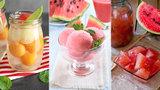 Tři melounové laskominy pro večerní osvěžení: Sorbet, bowle i nakládaný k masu!