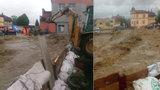 Záchrana z lagun a nová výstraha. V Česku hrozí povodně, sledujte radar