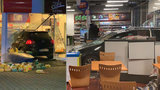 Kuriózní nehoda na Jižní spojce: Auto skončilo uprostřed benzinky!