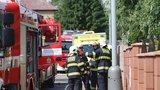 Ohnivé peklo ve Vinoři: Požár zachvátil podkroví rodinného domu