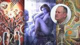 """Renesanční malíř z doby """"post-atomové"""": Václav Mach-Koláčný (66) snoubí klasiku s modernou"""