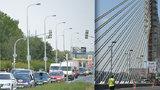 Uzavírka Jižní spojky komplikovala dopravu: Objízdná trasa nápor nezvládala