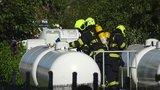 Poplach v Kyjích: V průmyslovém areálu unikal plyn ve velkém