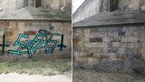 Identita odstraňovače graffiti z Karlova mostu odhalena: Práce mu trvala 2 hodiny
