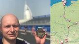 Dovolená podle Forresta Gumpa: František dojel na sever Polska, zpět do Ostravy poběží 930 km