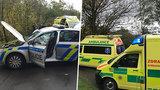 Policisté jeli na pomoc, sami skončili v nemocnici: Na Berounsku narazili do stromu