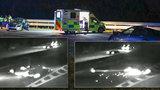 VIDEO: Policistu na D1 smetlo auto. Vteřiny před nárazem: Řidič neviděl modrý maják, pak to přišlo