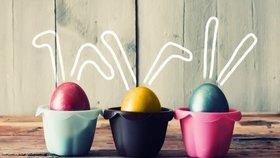 Velikonoční dekorace: Originálně zdobená vajíčka
