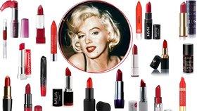 Božská jako Marilyn: 20 nejlepších rudých rtěnek do 200 korun