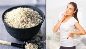 Rýžová dieta: Zbaví vás kilogramů a pročistí organismus
