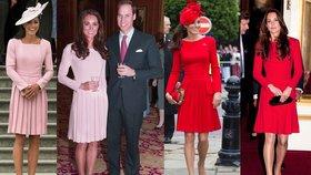 Vévodkyně Kate nemá na nové šaty? Chodí stále ve stejných modelech!