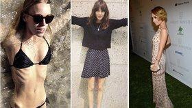 Celebrity ukazují svá vyzáblá těla! Opravdu chcete mít velikost nula?