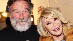 Smějí se spolu v nebi: Joan Rivers zbožňovala Robina Williamse, oba tragicky zahynuli!