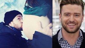 Justin Timberlake ukázal těhotenské bříško své ženy: Letos dostanu ten nejlepší dárek!