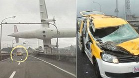 Padající letadlo zasáhlo taxikáře: Okamžitě jsem omdlel!